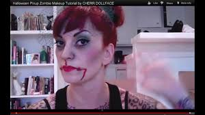 pinup zombie makeup tutorial by cherry dollface you