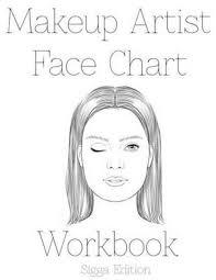 bol makeup artist face chart workbook sigga edtion sarie smith 9781523878468 boeken