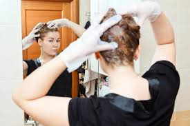 is hair color shspoo stain bathroom