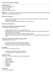 production coordinator resumes production coordinator resume best template collection