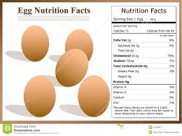 Chicken Egg Nutrition Chart Egg Nutrition Facts Stock Vector Illustration Of Protein