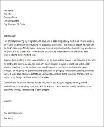 Resignation Letter Samples With Reason 10 Sample Resignation Letter For Family Reasons Doc