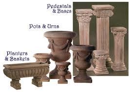 als garden art pottery pedestals