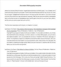 7 annotated bibliography templates
