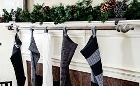 DIY curtain rod stocking hanger
