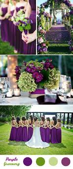 Wedding Colors Purple Green And Yellow L