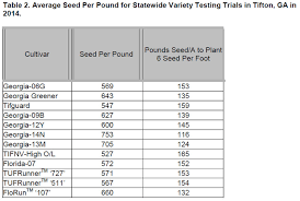 Dooly County Extension Peanut Seed Size