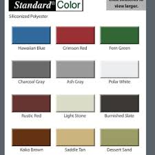 Central States Metal Color Chart Cupola Kit Color Charts Cupolas For Roofs And Barns