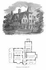 Historic House Floor Plans and Construction Designs   vintage    Downing Victorian