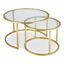 glass top madison round coffee table