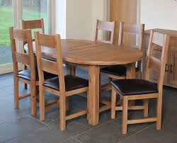 extending solid oak dining table 6 chairs. furniture link hampshire oak dining set - 180cm oval extending with 6 padded seat chairs solid table
