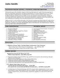 Tv Production Resume Examples Tv Writer Resume Sample