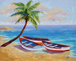 easy landscape paintings for beginners easy scenery paintings for beginners tropical beach seascape ocean