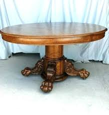 claw foot coffee table claw foot coffee table antique round oak dining table large carved claw