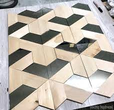 Save money on buying 3d wallpaper and use a cardboard ( a design tool) with a triangle shape to paint this on your geometric shapes wall design looks great on living room walls, kitchen walls, entryway or bedroom walls. Wood And Mirror Geometric 3d Wall Art Reality Daydream