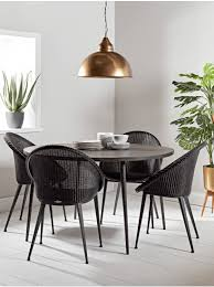 dining room side table. industrial mango table - dark wood dining room side