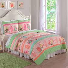 Laura Hart Kids Owl Stripe 3-piece Quilt Set - Free Shipping Today ... & Laura Hart Kids Owl Stripe 3-piece Quilt Set Adamdwight.com