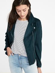 sueded knit moto jacket for women