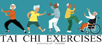 Image result for drawings of elderly doing exercises