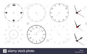 Watch Dial Design Template Clock Face Blank Isolated On White Background Vector Clock