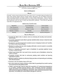 Financial Advisor Sample Resume