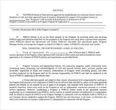 sponsorship agreement sponsorship agreement example