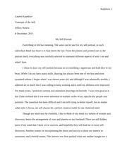 concepts of the self othello essay elizabeth perrotta perrotta  4 pages concepts of the self self portrait essay