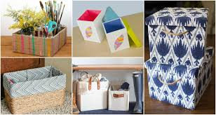 diy decorated storage boxes. DIY Storage Boxes That Will Keep Your House Tidy And Decorated In The Same Time Diy