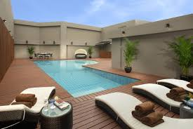 pool design ideas. Luxury Pool Designs For Modern Backyard Design Ideas With Outdoor Rattan Furniture Sets