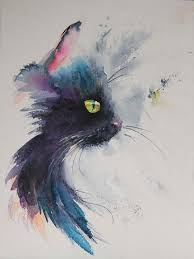 watercolor painting ideas of mouse head