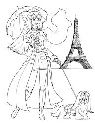 Fashion Coloring Pages Fashionable Girls Picture