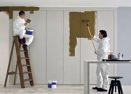 texture wardrobe with painted doors