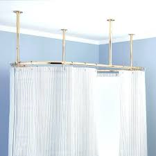 enchanting oval shower curtain rod ceiling mounted corner shower curtain rod l shaped suspended oval suspended