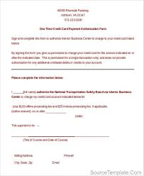 Credit Card Authorization Form Template Canada Credit Card