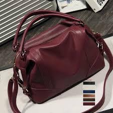 2019 fashion pu leather handbag shoulder bag women large tote messenger cross bags zipper closure agd fab women bag leather bags designer purses from