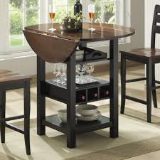 Wine Rack Dining Table Drop Leaf Dining Table With Wine Rack