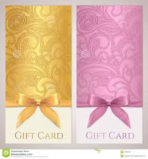 gift certificate gift card coupon template stock image image gift certificate gift card coupon template