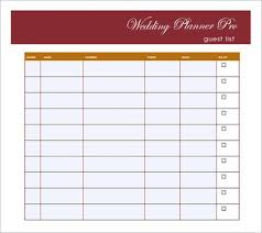 Wedding Guest List Template To Set A Wedding Ceremony On A Budget