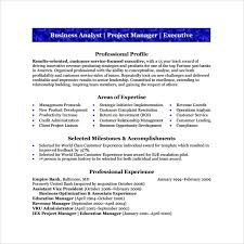 Sample Resumes For Business Analyst Sample Business Analyst Resume 8 Documents In Pdf Word
