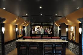 basement theater ideas. Basement Home Theatre Ideas Theater Contemporary With Red Leather Armchairs Re