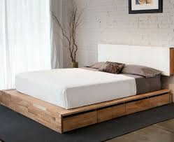 queen size bed frame with storage double bed with storage drawers ...