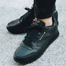 buty reebok classic leather black
