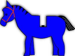 view all blue horse cliparts