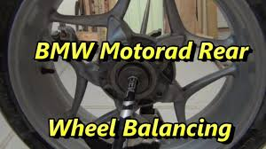 diy bmw motorrad rear tire balance