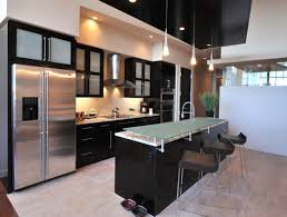Custom frosted glass cabinets perfect for the contemporary kitchen