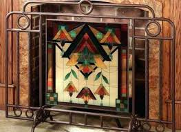 full size of pewter leaded glass fireplace screen beveled stained best stain fire images glamorous amazing