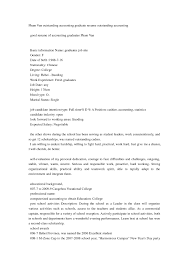 Resume Sample For Fresh Graduate Accounting Pdf New Example Cover