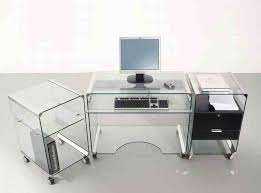 chrome office desk. Furniture Inspiring L Shaped Glass Clear Top Computer Desk With Throughout And Chrome Office Plans 6