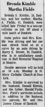 Obituary for Uremia Kimble Martha Fields (Aged 41) - Newspapers.com
