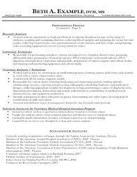 Veterinary Resume Samples Roddyschrock Com